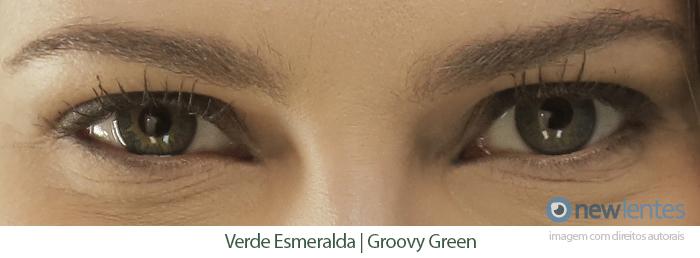 Lentes de Contato Coloridas FRESHKON COLORS FUSION Verde Esmeralda