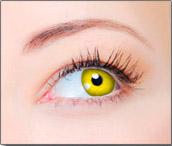 Lentes de Contato Coloridas CLEAR COLORS FASHION Amarela
