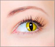 Lentes de Contato Coloridas CLEAR COLORS FASHION Olho de Gato Amarelo