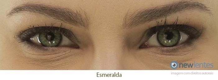 Lentes de Contato Colorida Natural Colors Esmeralda