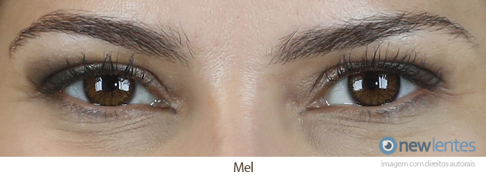 Lentes de Contato Colorida Natural Look  Mel