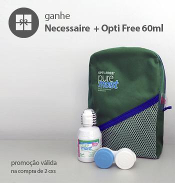 Promoção 2cxs ganhe Necessaire + Opti Free60ml