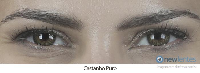 Lentes de Contato Coloridas Impressions Tree Tones Mensal Castanho Puro