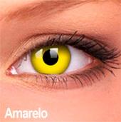 Lentes de contato Impressions Cores Especiais Amarelo