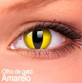 Lentes de contato Impressions Cores Especiais Olho de Gato Amarelo