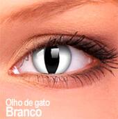 Lentes de contato Impressions Cores Especiais Olho de Gato Branco