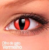 Lentes de contato Impressions Cores Especiais Olho de Gato Vermelho