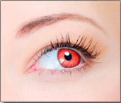 Lentes de Contato Coloridas CLEAR COLORS FASHION Vermelho