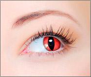 Lentes de Contato Coloridas CLEAR COLORS FASHION Olho de Gato Vermelho