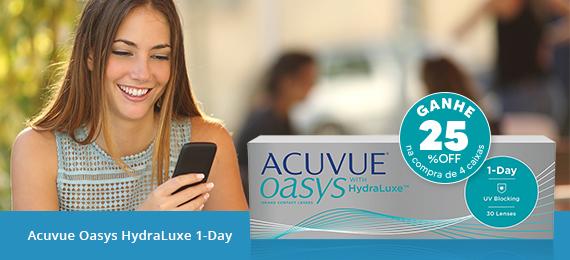 Lentes de contato Acuvue Oasys Hydraluxe 1-Day