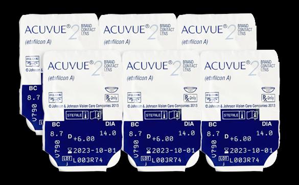 6 lentes Acuvue 2