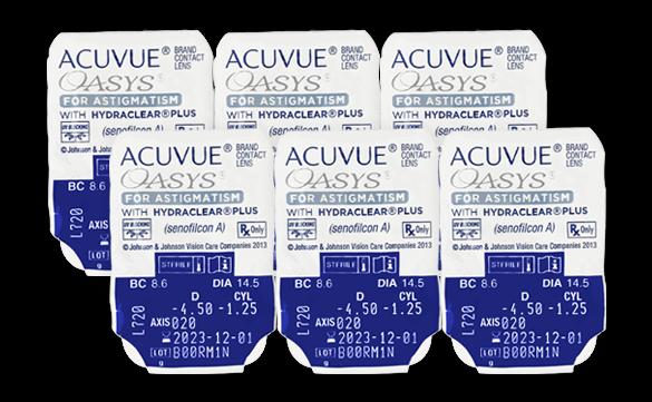 6 lentes Acuvue Oasys para Astigmatismo