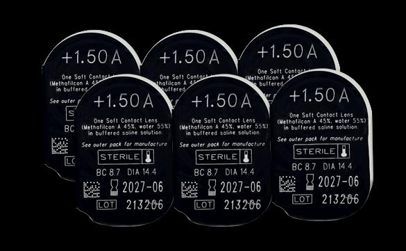 6 unidades de lentes de contato Biosoft