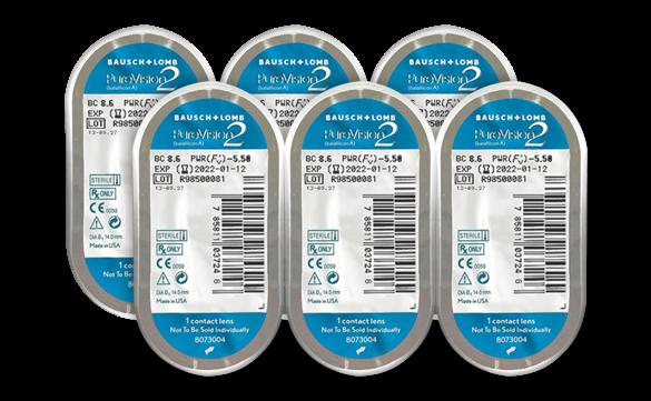 6 unidades de lentes de contato Solflex CL