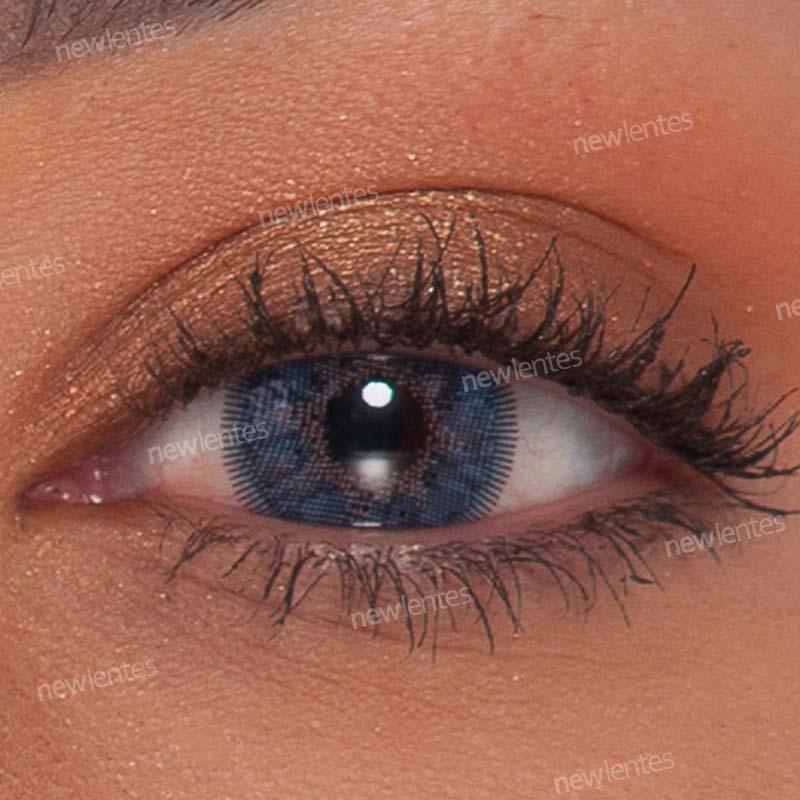Lentes de Contato Colorida Natural Vision Azul Ellegant