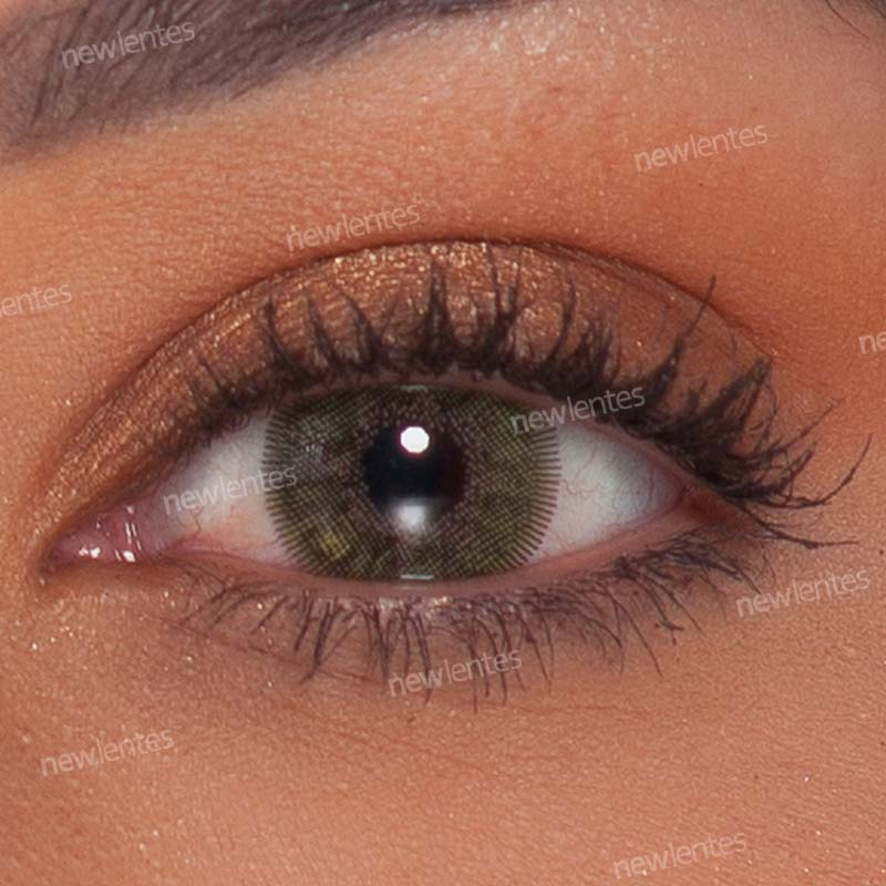 Lentes de Contato Colorida Natural Vision Verde Ellegant