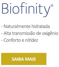 Benefícios das lentes de contato biofinity