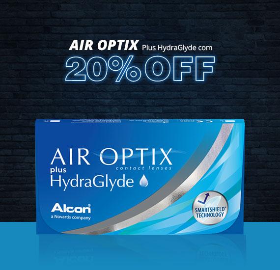 Air Optix Hydraglyde com preço de Black Friday