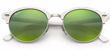 Ray Ban RB4246 Clubround  51 - Branco Pérola - 988/2X