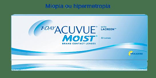 Lentes de contato Acuvue Moist with Lacreon