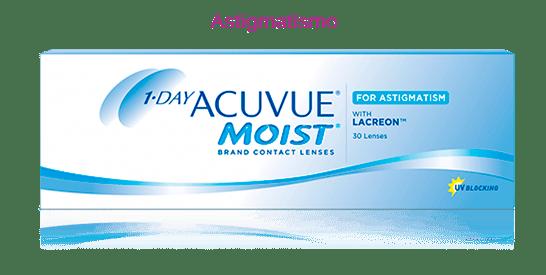 Lentes de contato Acuvue 1-Day moist astigmatismo