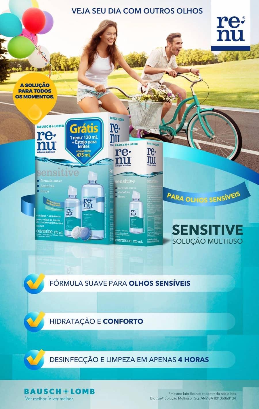 Solução de limpeza Renu Sensitive