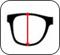 Altura da lente do óculos