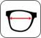 Largura da lente do óculos