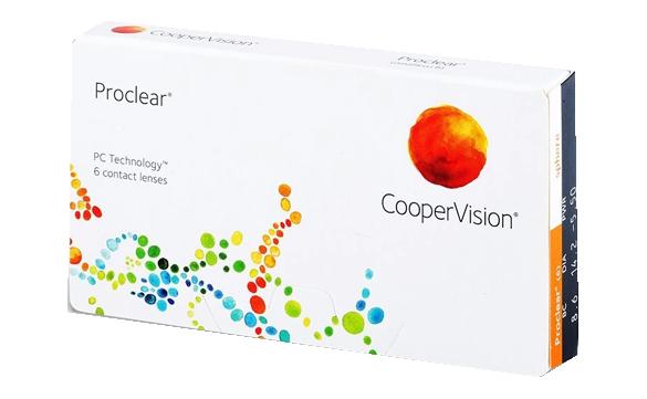 Caixa aberta das lentes de contato Proclear