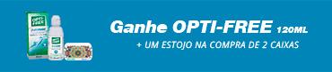 Promoção Ganhe Opti Free 120ml + Estojo Exclusivo