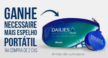 Promoção Necessaire Dailies com espelho portátil