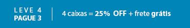 Promoção Selo Combo 25% OFF