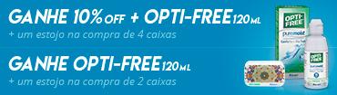Promoção selo-opti-free-azul10off