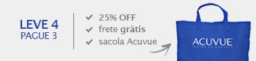 Promoção Combo Acuvue - 25% + sacola