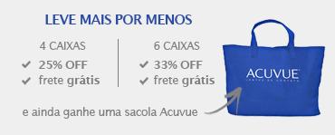 Promoção Combo Acuvue - 25% e 33% + sacola