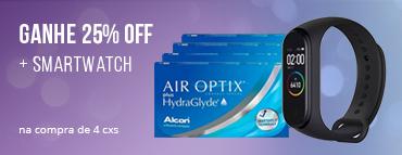 Promoção Smartwatch air optix hydraglyde