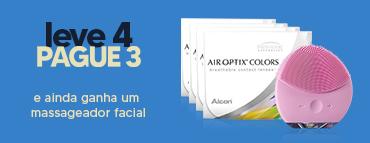 Promoção Air Optix Colors Leve 4 Pague 3 com brinde