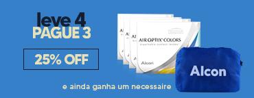 Promoção air optix colors com necessaire alcon